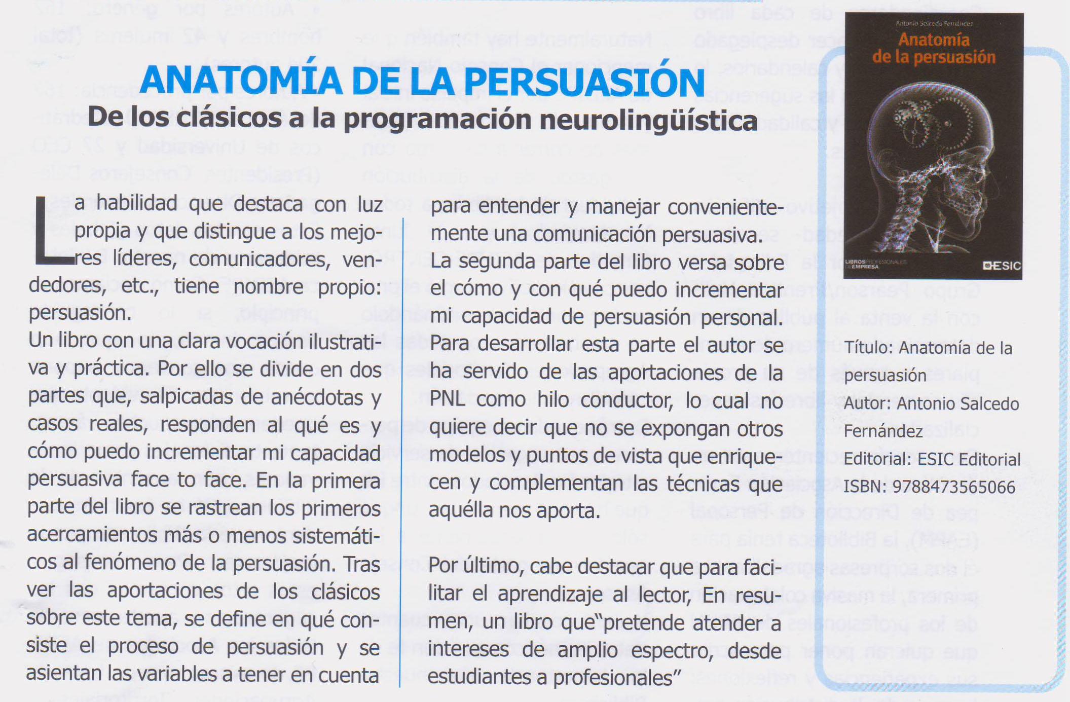 Anatomía de la persuasión - Recursos Humanos
