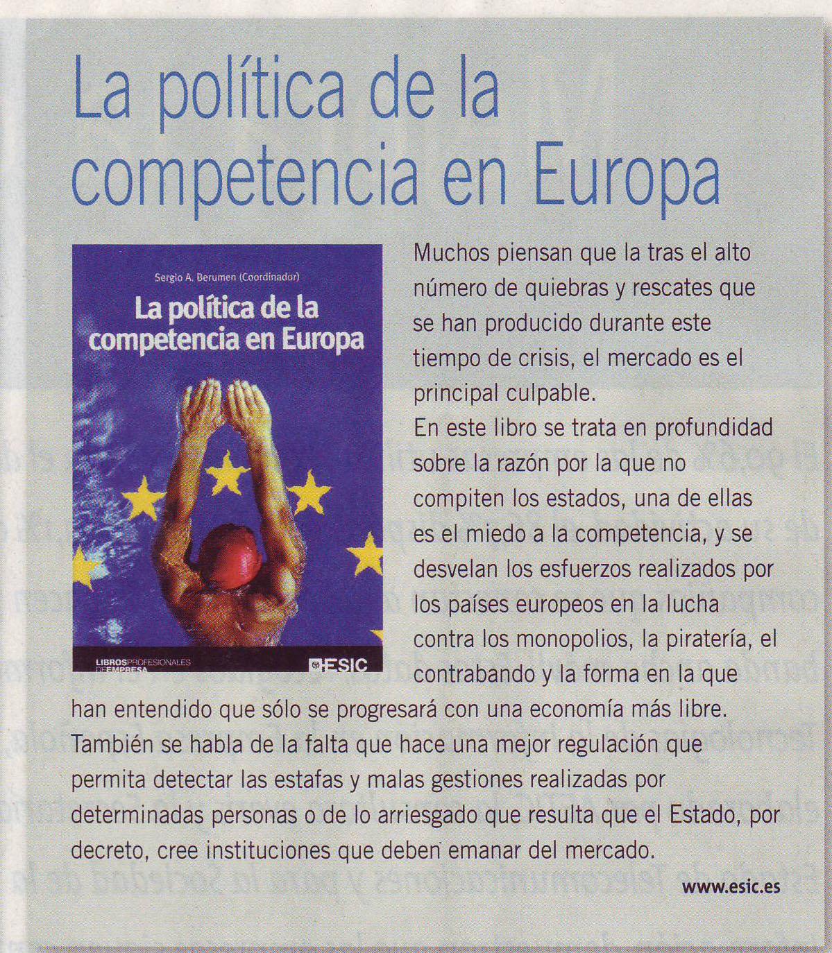La pol tica de la competencia en europa finanzas for La politica internacional