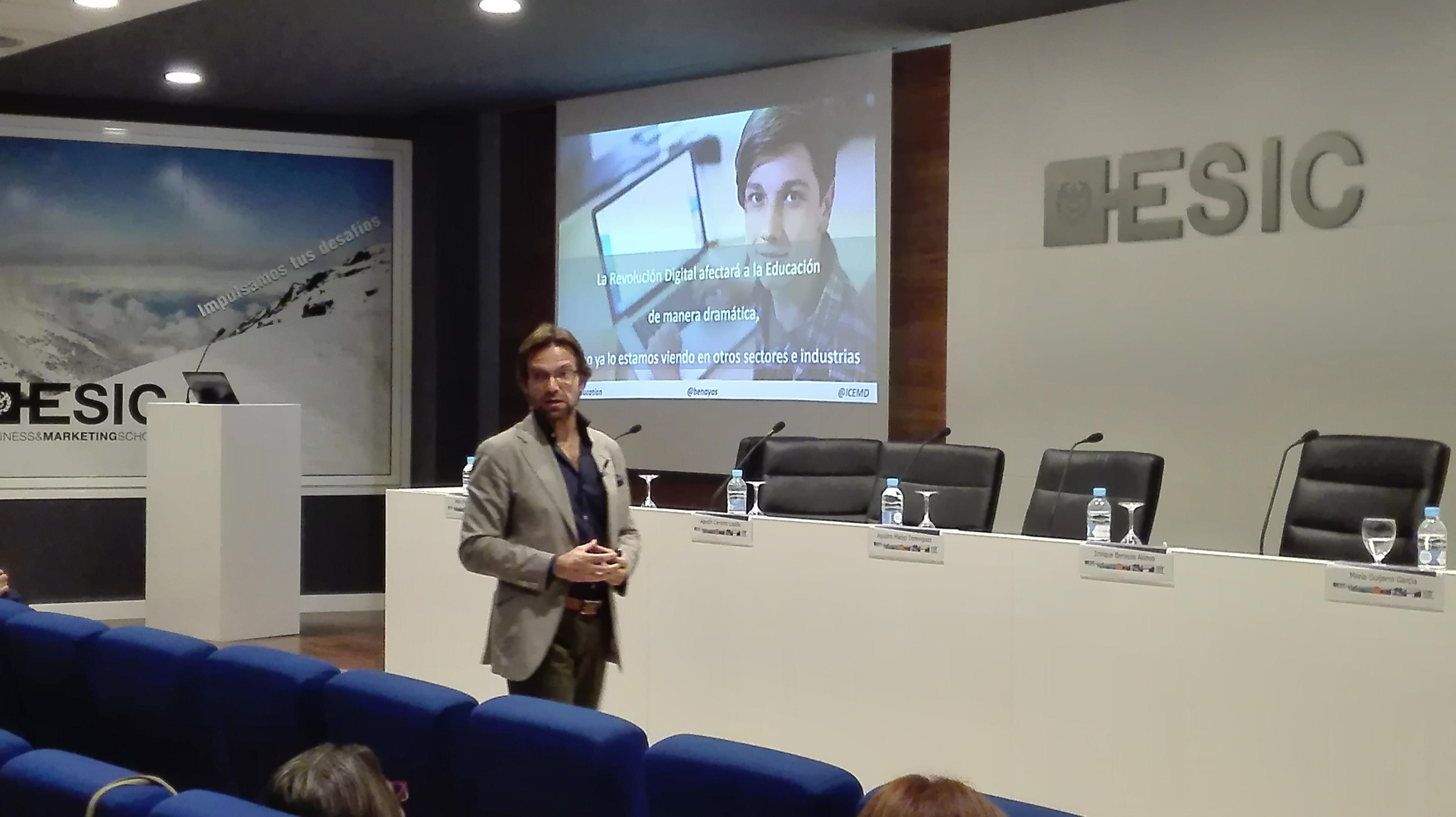 Enrique Benayas, director general de ICEMD -Instituto de Economía Digital de ESIC