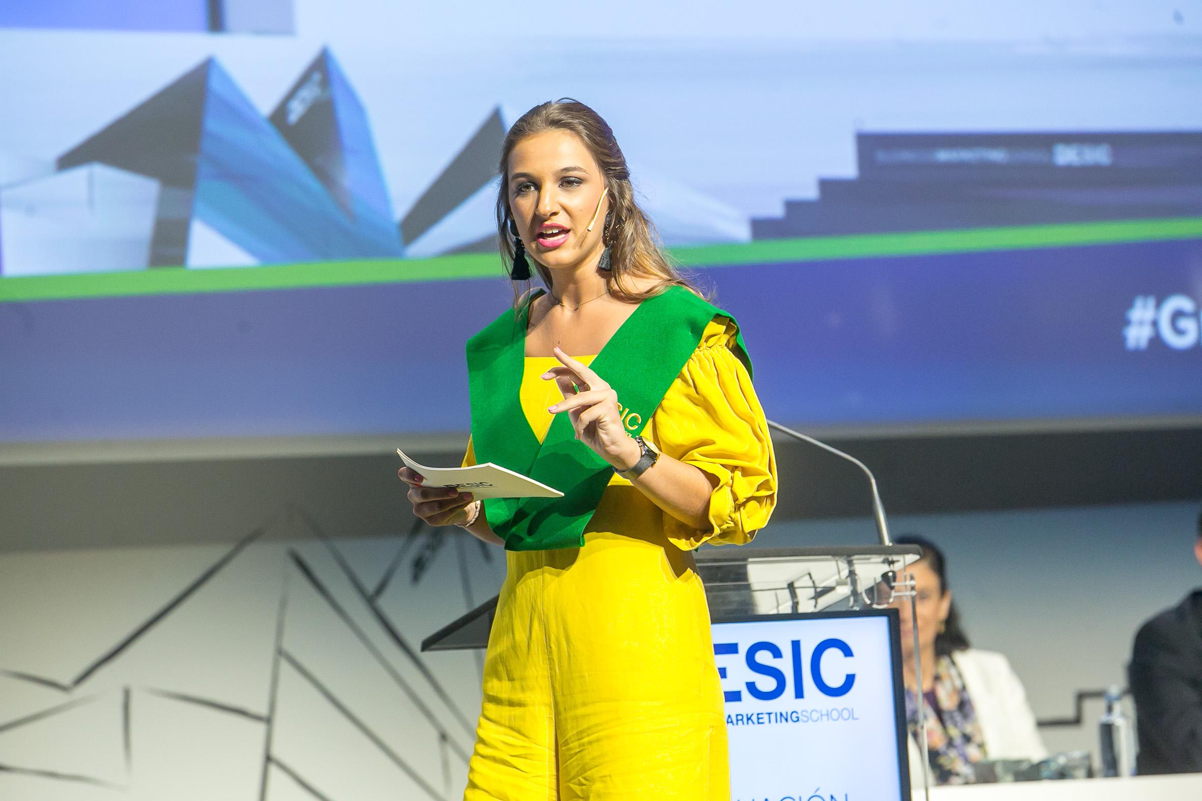 Paula Aznar, representante de los alumnos