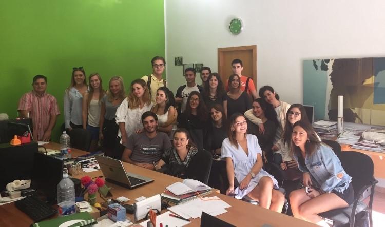 Alumnos de ESIC en Hortanoticias