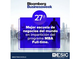 ESIC, en el top mundial del ranking MBA de Bloomberg Businessweek