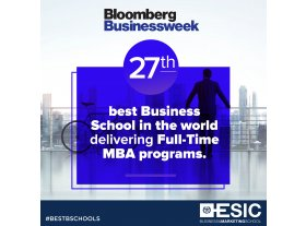 ESIC recognized as the 27th best business school in the world delivering full-time MBA programs