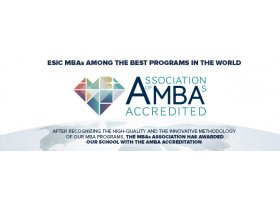 ESIC has obtained the AMBA accreditation given by the Association of MBAs